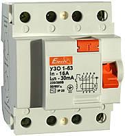 Устройство защитного отключения УЗО 1-63 4P 25А 100mA, TM Electro