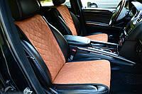 Накидки на сиденья автомобиля (передние, AVторитет, бежевый)