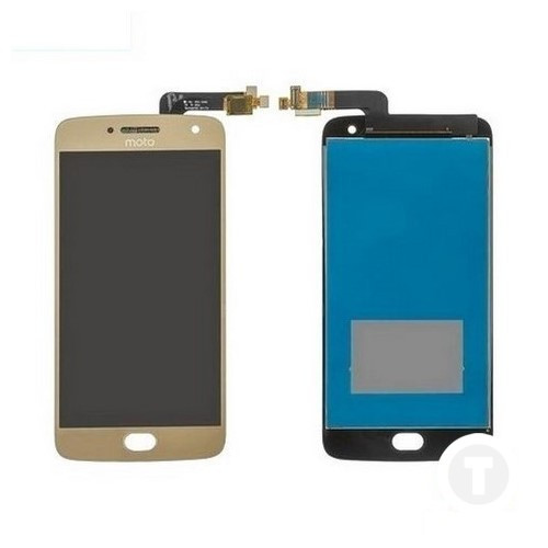 Дисплей (екран) для Motorola XT1684 Moto G5 Plus/ XT1685/ XT1687 з сенсором / тачскріном (Модуль) золотий
