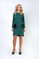 Осеннее деловое платье Линда, размеры 46,48,50,52