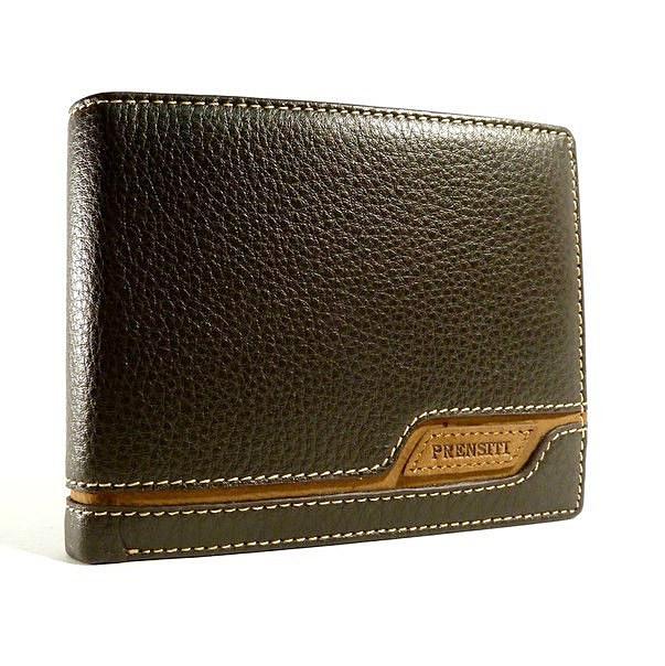 Кошелек мужской кожаный коричневый карты, монеты Prensiti 8957b