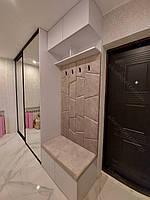 Шкаф купе с профилем Zola черный браш + зеркало. Мягкая прихожая с крючками., фото 1