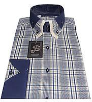Рубашка мужская приталенная в клетку S 36.1