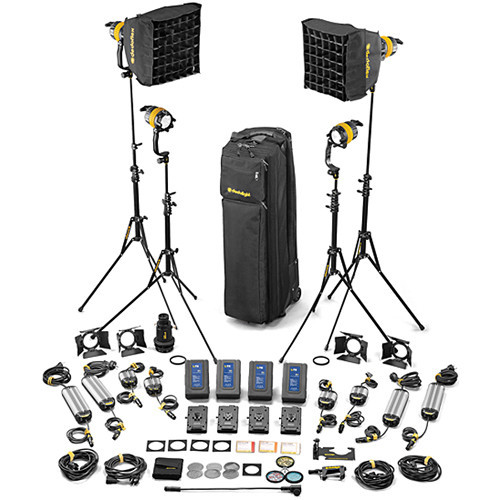 Dedolight DLED4.1-BI Bi-Color LED 4-Light Master Kit (Mains & Battery Operation) (SLED4-BI-M)