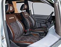 """Модельные чехлы Volkswagen Caddy / Фольксваген Кадди (1+1) 2004-2013 """"Нубук"""", фото 1"""