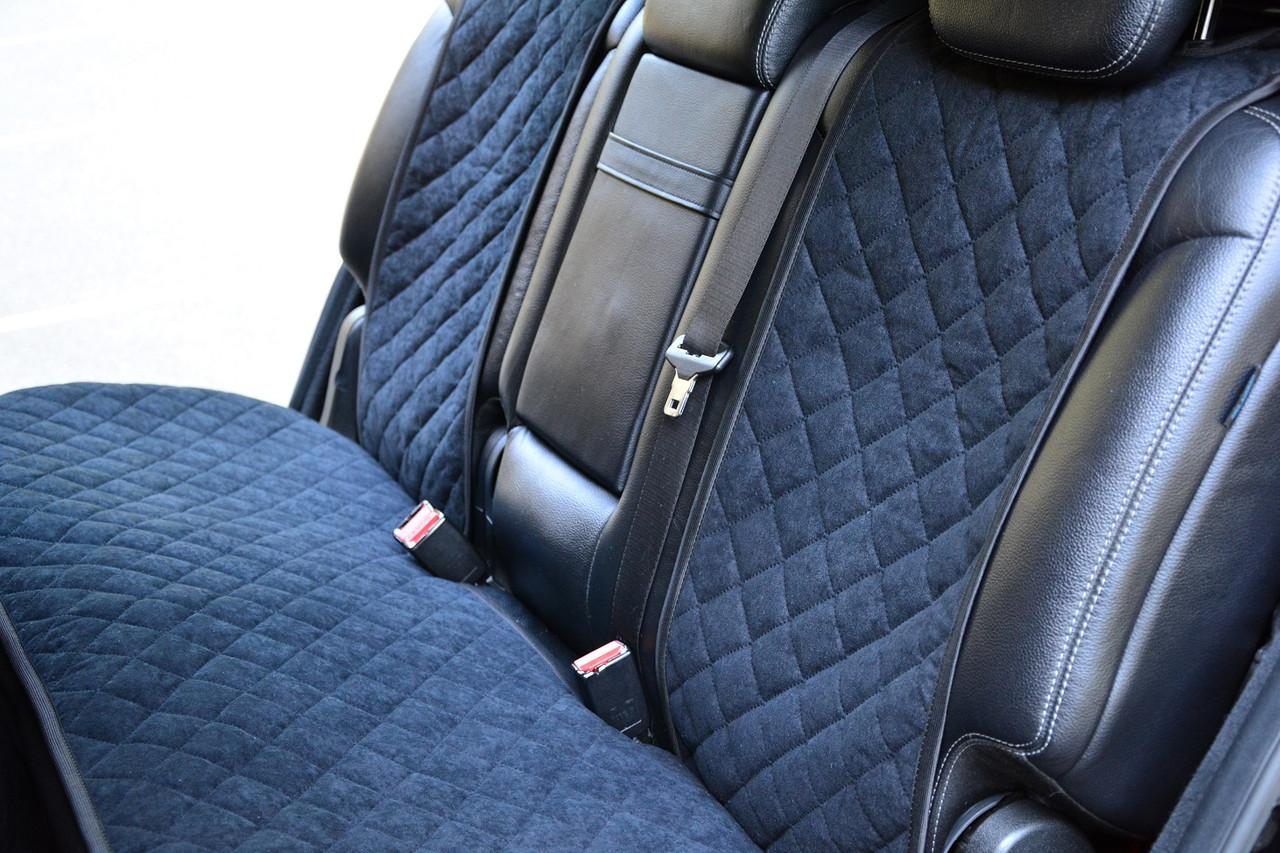 Накидки на сиденья автомобиля (задние, AVторитет, черный), фото 1