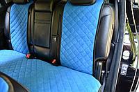 Накидки на сиденья автомобиля (задние, AVторитет, синий), фото 1