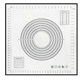 Коврик силиконовый Белый для раскатки и выпечки 50*50 см с разметкой