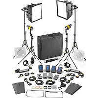 Dedolight DLED4.1/Felloni 2x2 Bi-Color 4-Light Master Kit (Mains & Battery Operation) (SLED2X2-BI-M)