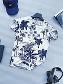 Футболка мужская с пальмами стильная молодежная белого цвета LONS   Чоловіча футболка з пальмами