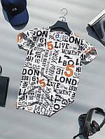 Мужская футболка летняя молодежная с принтом | Чоловіча літня футболка з принтом
