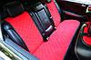 Накидки на сиденья автомобиля (задние, AVторитет, красный)