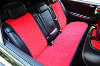 Накидки на сиденья автомобиля (задние, AVторитет, красный), фото 1