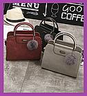 Жіноча маленька сумочка з хутряним брелоком бордова,Жіночі міні сумки сумочка,Міні сумки на плече,Сумки MINI