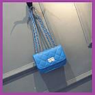 Жіноча міні сумочка клатч MINI, Жіночі міні сумки, Міні-сумочка синій на плече, Маленькі жіночі сумки