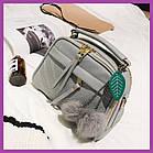 Міні сумочка з хутряним брелоком