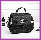 Чорна жіноча сумка в стилі Louis Vuitton еко-шкіра, Жіночі міні сумки сумочка, Міні сумки на плече