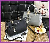 Стильна жіноча сумка класична сіра, Модні жіночі сумки дешево, Якісні жіночі сумки новинки