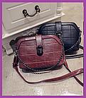 Модна жіноча сумочка клатч бордова, Жіночі міні сумки, Міні-сумка на плече, Маленькі жіночі сумки