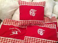Новогодние наволочки на интерьерные подушки, фото 1