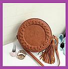 Кругла жіноча сумка клатч
