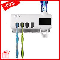 Диспенсер для зубной пасты и стерилизатор для щеток ZOOSON ZSW-Y01, УФ-стерилизатор для зубных щеток