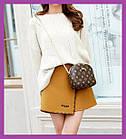 Жіноча міні сумочка клатч MINI, Жіночі міні сумки, Міні-сумочка коричнева на плече, Маленькі жіночі сумки
