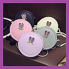 Яскрава жіноча кругла сумочка клатч з вушками, Жіночі сумки, Сумка жіноча кругла різні кольори