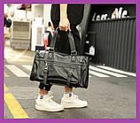 Чоловіча спортивна сумка чорна, Чоловічі дорожні спортивні сумки через плече, Сумки дорожньо-спортивні