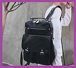 Чоловічий рюкзак міський чорний еко-шкіра, Рюкзаки міські молодіжні чоловічі