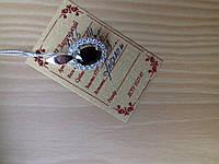 Женский кулон из серебра с золотом