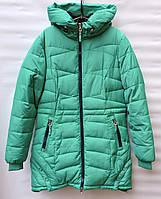 Зимнее пальто для девочки 6-14 лет C&LC зеленое