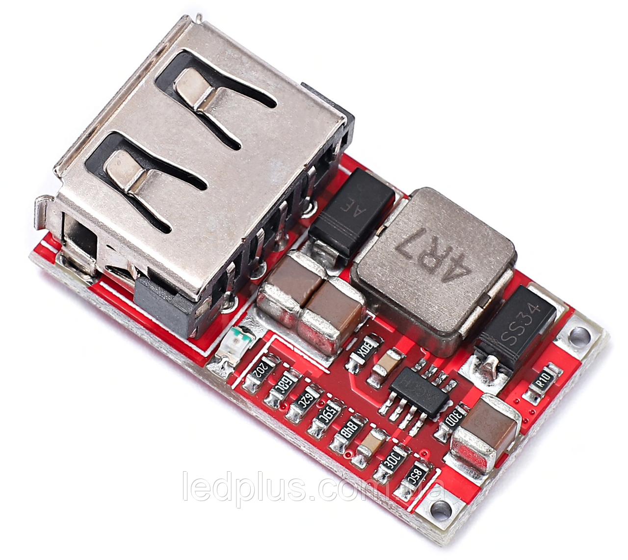 Понижающий стабилизатор напряжения  5V 3A USB mini