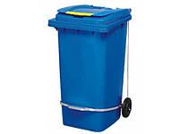 Бак мусорный 240 л с педалью ZTPE