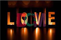 "Подсвечники ""LOVE"" из дерева на заказ"
