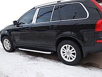 Боковые пороги BlackLine (2 шт., алюминий) для Volvo XC90 2002-2016 гг.