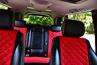 Накидки на сиденья автомобиля (полный комплект, AVторитет, красный)