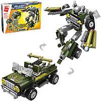 """Конструктор Qman 3307 Blast Ranger """"Трансформер робот джип"""" 302 деталей"""