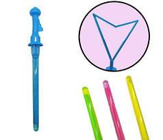 [1092] Мыльные пузыри 1092 (96шт) меч, 45см, раскрыв.ручка,16шт(4цвета) в дисплее, 22,5-22,5-45см