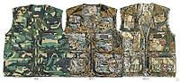 Жилет камуфлированный, военный, для охотников и рыбаловов, мужской или женский