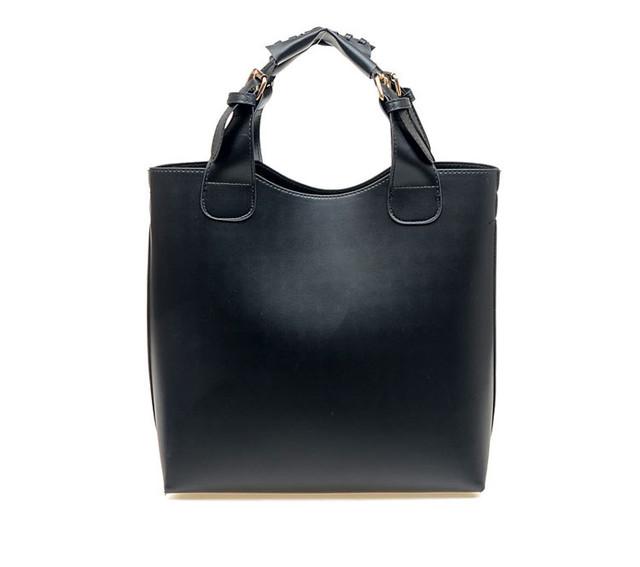 Женская сумка-шоппер черная.