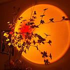 Проекційний світильник заходу і світанку Sunset Lamp USB для блогера, фото 4