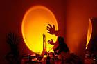Проекційний світильник заходу і світанку Sunset Lamp USB для блогера, фото 7