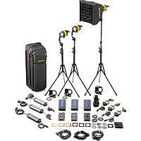 Dedolight DLED4.1-BI Bi-Color LED 3-Light Master Kit (Mains & Battery Operation) (SLED3-BI-M)