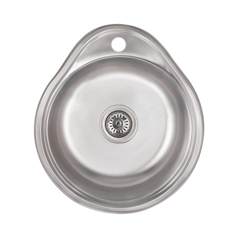 Кухонна мийка Lidz 4843 Satin 0,6 мм (LIDZ484306SAT)