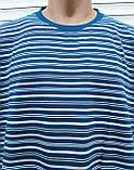 Мужская футболка большого размера 58 размер Бежево-белые полоски, фото 7
