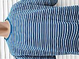 Мужская футболка большого размера 58 размер Бежево-белые полоски, фото 6