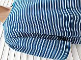 Мужская футболка большого размера 58 размер Бежево-белые полоски, фото 5