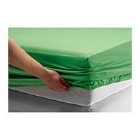 DVALA Простыня натяжная, зеленый, 90х200