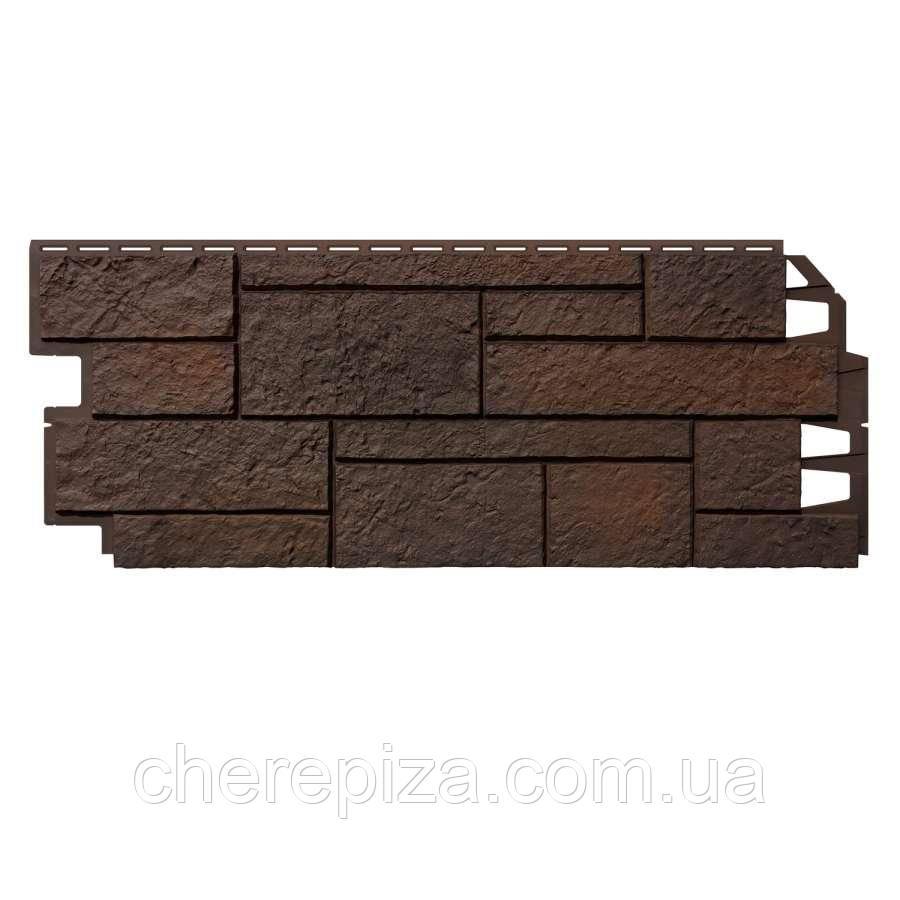 Фасадна панель VOX Solid SandStone Dark Brown 1х0,42 м